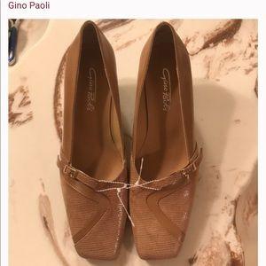 Nude textured 👠 heels